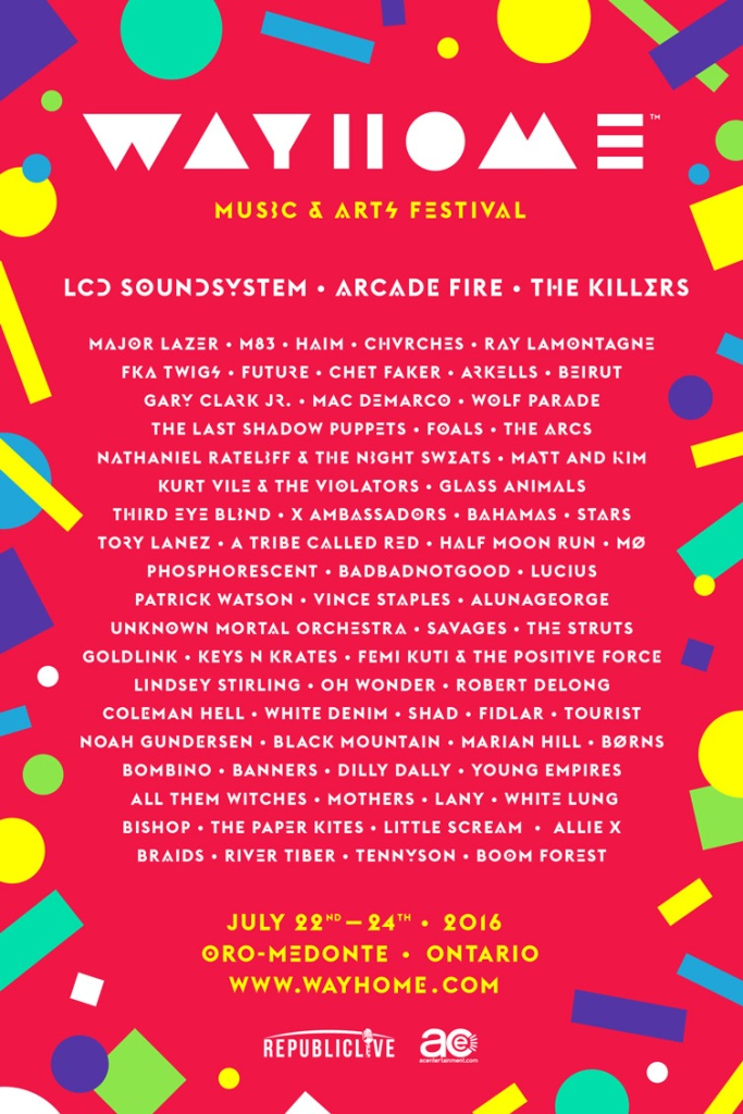 wayhome fest 2016 The Best of the Tiny Fonts in WayHome's 2016 Lineup