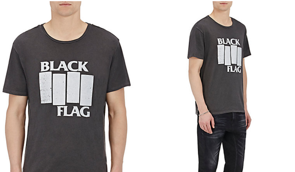 black flag shirt Barneys is selling obscenely expensive band t shirts