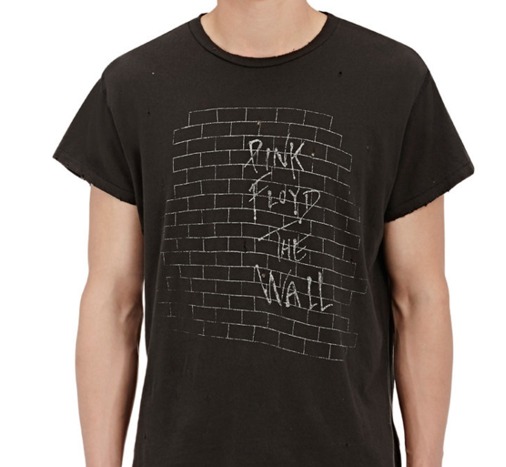 pink floyd shirt Barneys is selling obscenely expensive band t shirts
