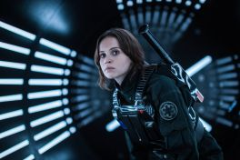 Felicity Jones' Jyn Erso disguised as an Imperial soldier