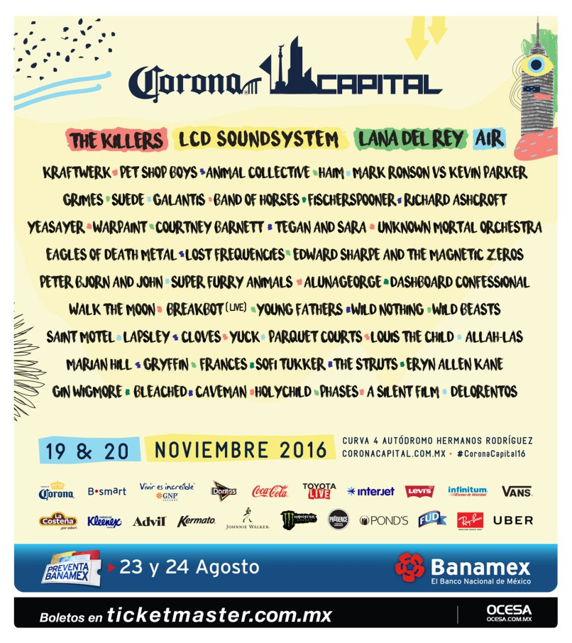 corona capital Win tickets to Mexico Citys Corona Capital 2016