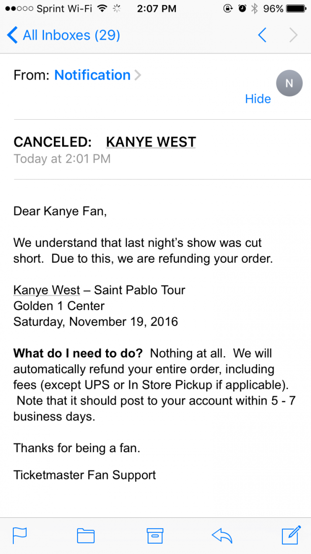 dyx7v4v Kanye West cancels tonights Los Angeles concert following latest on stage meltdown