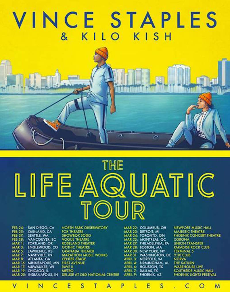 vince staples life aquatic 2017 tour1 Vince Staples announces 2017 North American tour inspired by The Life Aquatic
