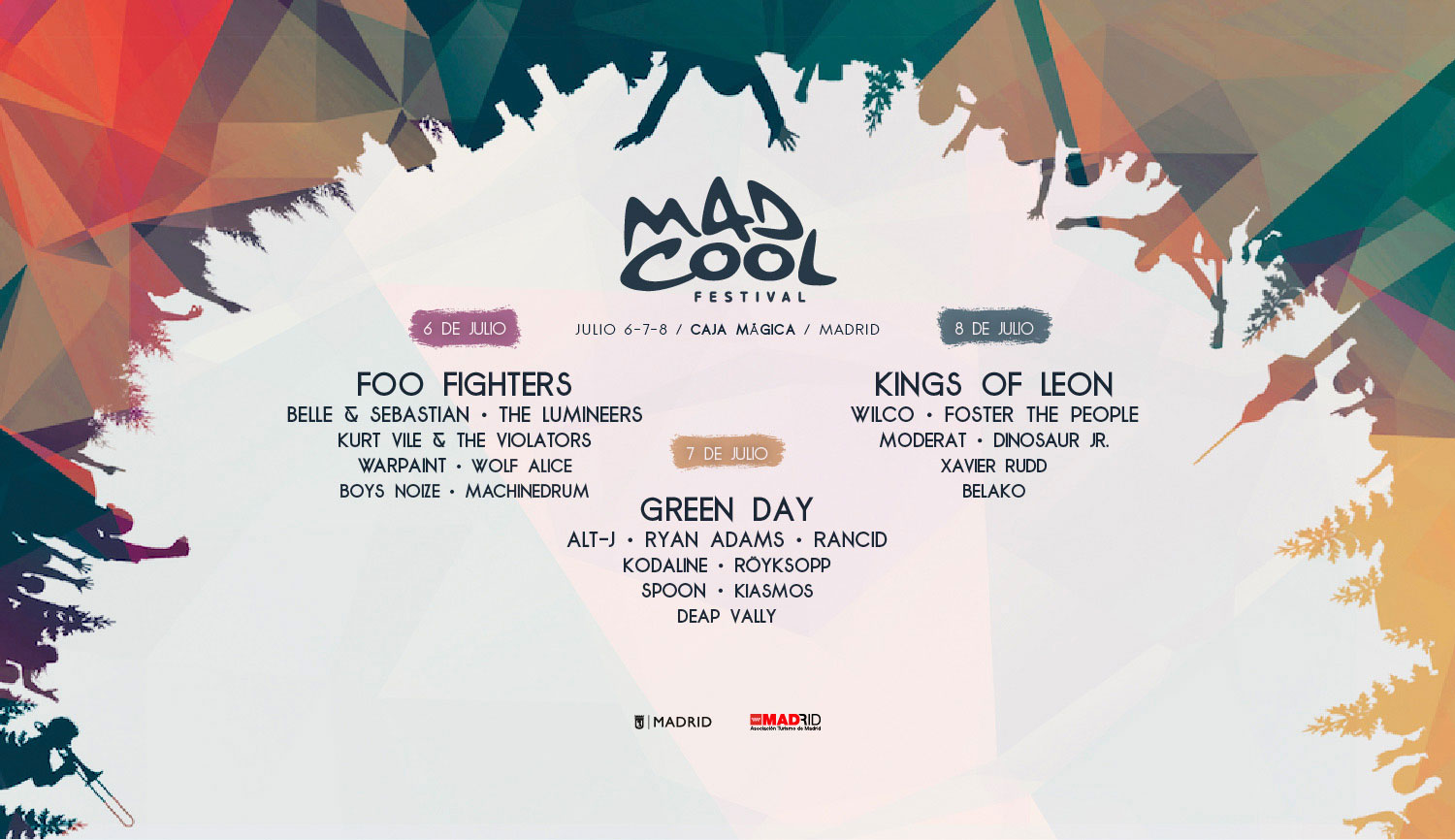 mad cool festival Foo Fighters, Wilco, Ryan Adams, Spoon, to play Spains Mad Cool Festival