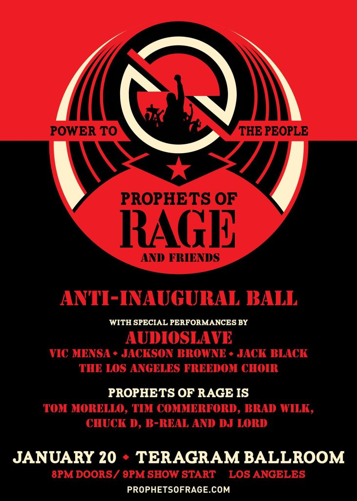 anti inaugural ball Audioslave to reunite for Anti Inaugural Ball, marking their first performance in 12 years