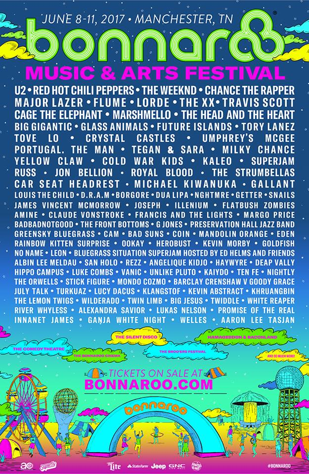 bonnaroo 2017 Bonnaroo reveals 2017 lineup: U2, Chili Peppers, The Weeknd to headline
