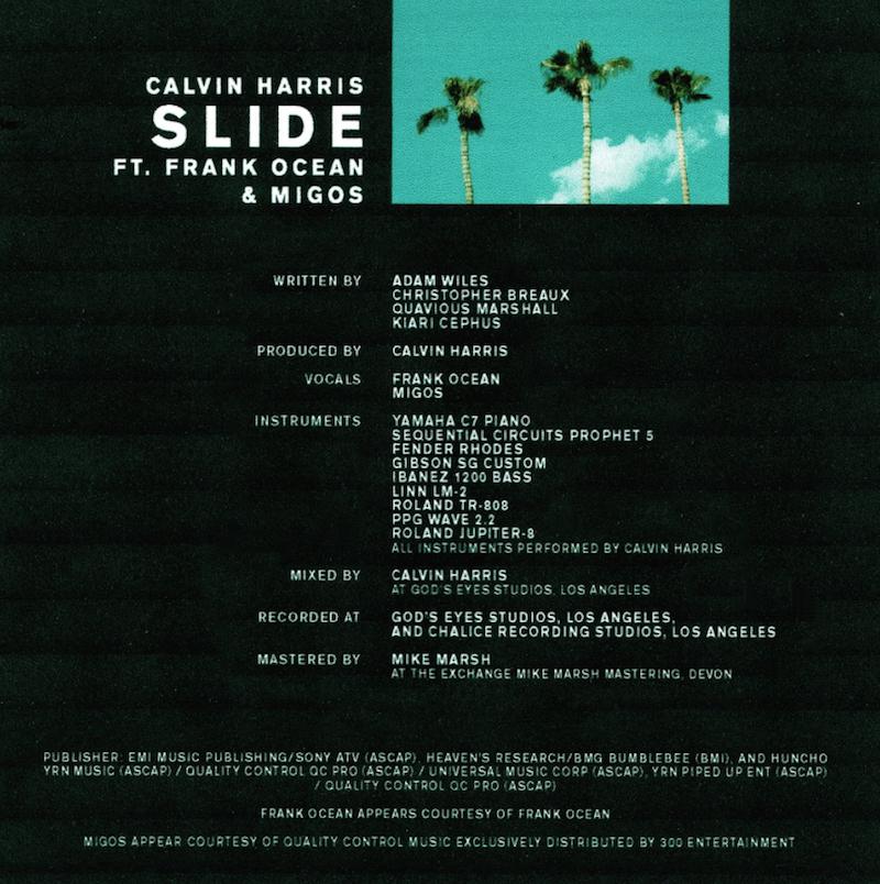 calvin harris slide song new Frank Ocean joins Calvin Harris and Migos on new single Slide    listen