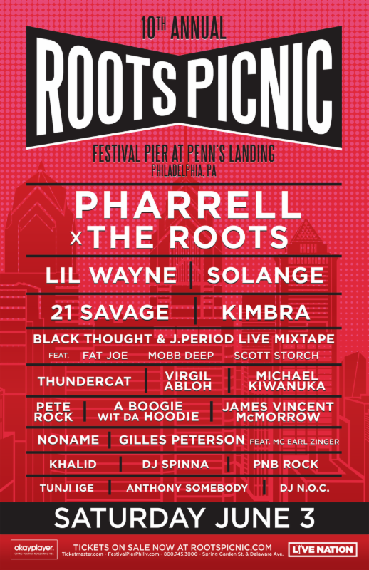 roots picnic 2017 The Roots reveal 2017 lineup for Roots Picnic: Pharrell, Solange, and Lil Wayne