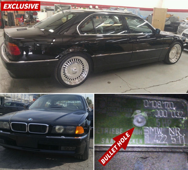tupac bmw via tmz You can own the car Tupac was shot in for $1.5 million
