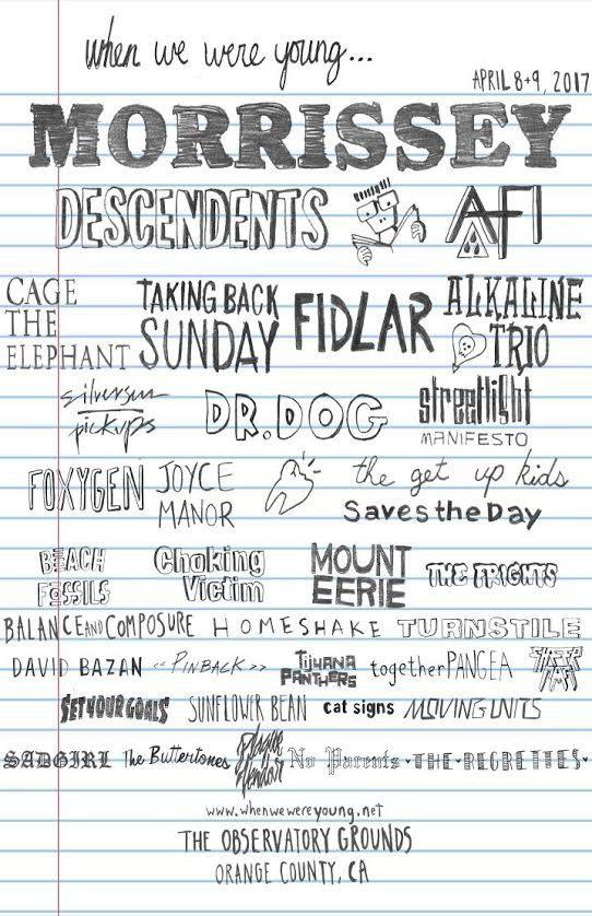when we were young fest The inaugural lineup for When We Were Young Fest is an emo kids dream come true