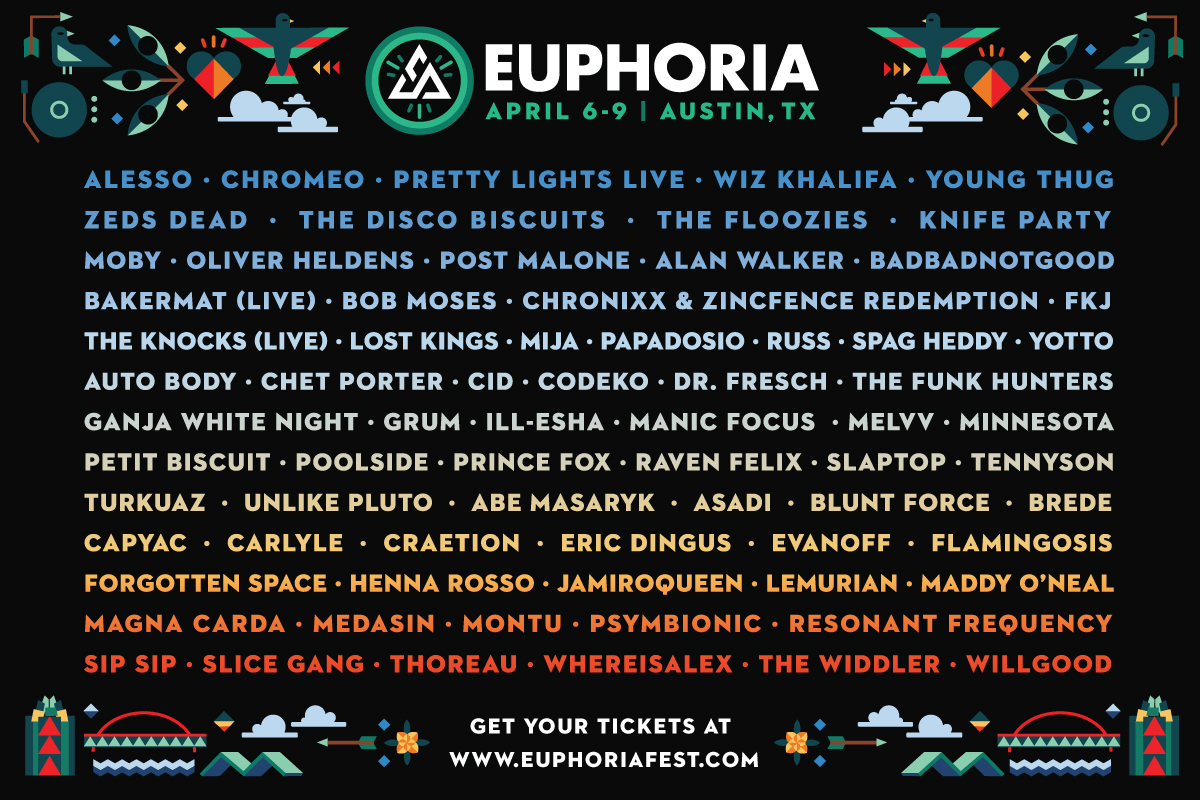 euph cos lineup Win EnlighTENTment Camping VIP passes for Euphoria Music Festival 2017