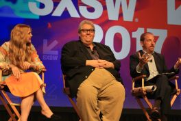 Anna Chlumsky, David Mandel, and Chuck Todd // HBO's Veep Panel // Photo by Heather Kaplan