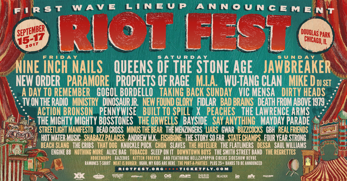 2017 admat fb media Riot Fest Chicagos 2017 Lineup: One Day Later