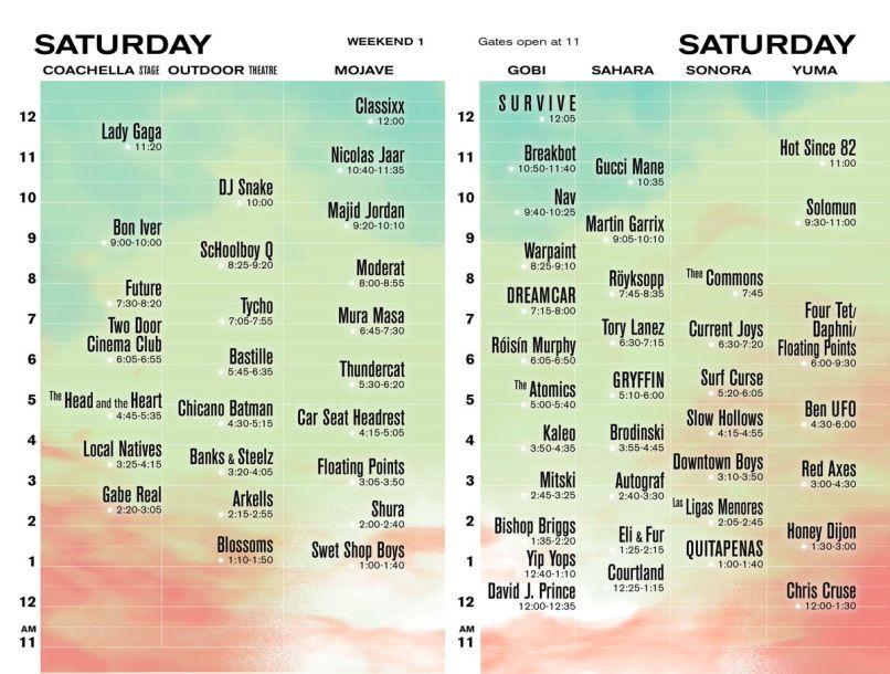coachella saturday 2017 Coachella 2017s 10 Biggest Schedule Conflicts Solved