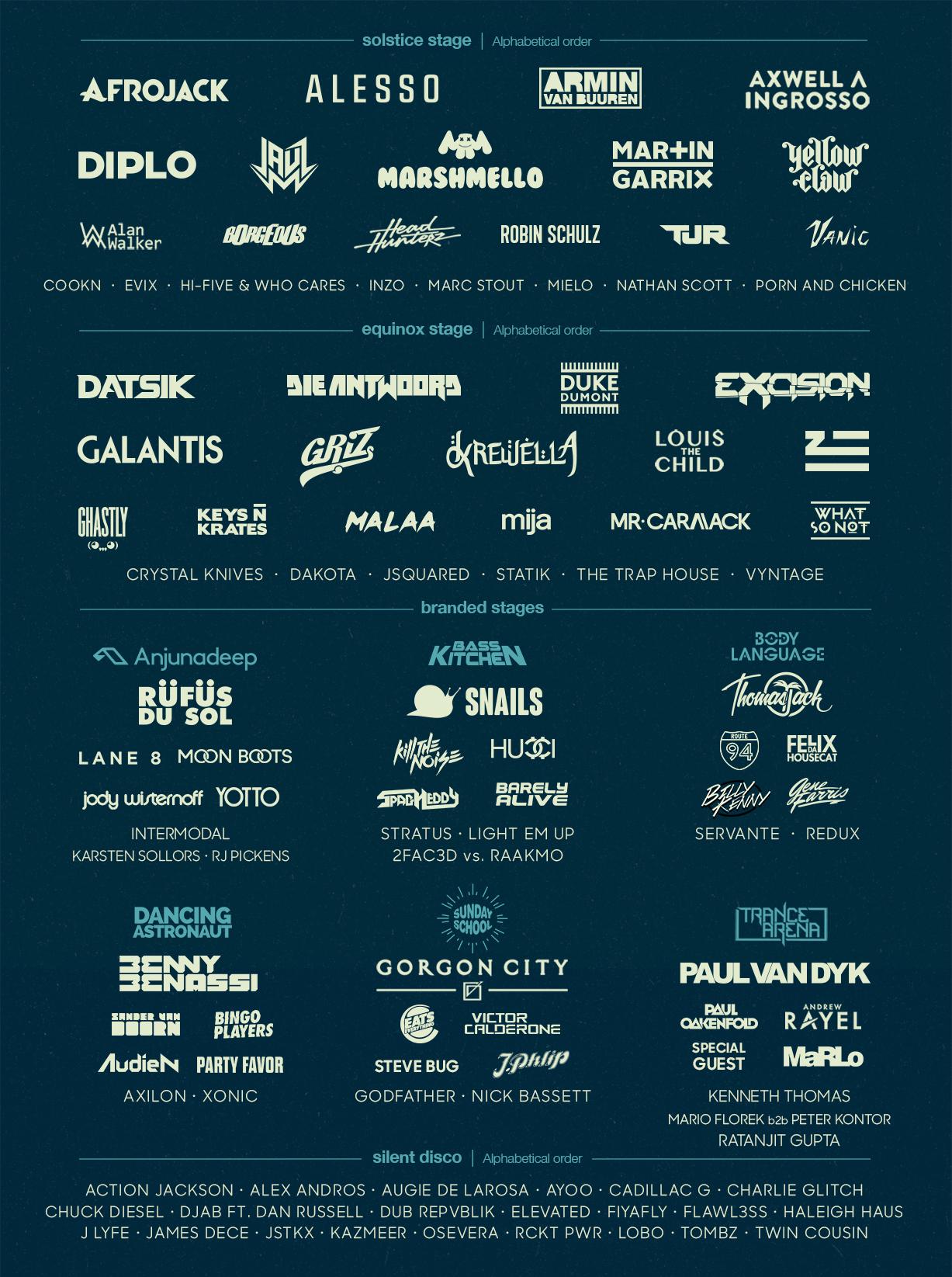 lineup final silentdisco 2 Win tickets to Spring Awakening Music Festival 2017
