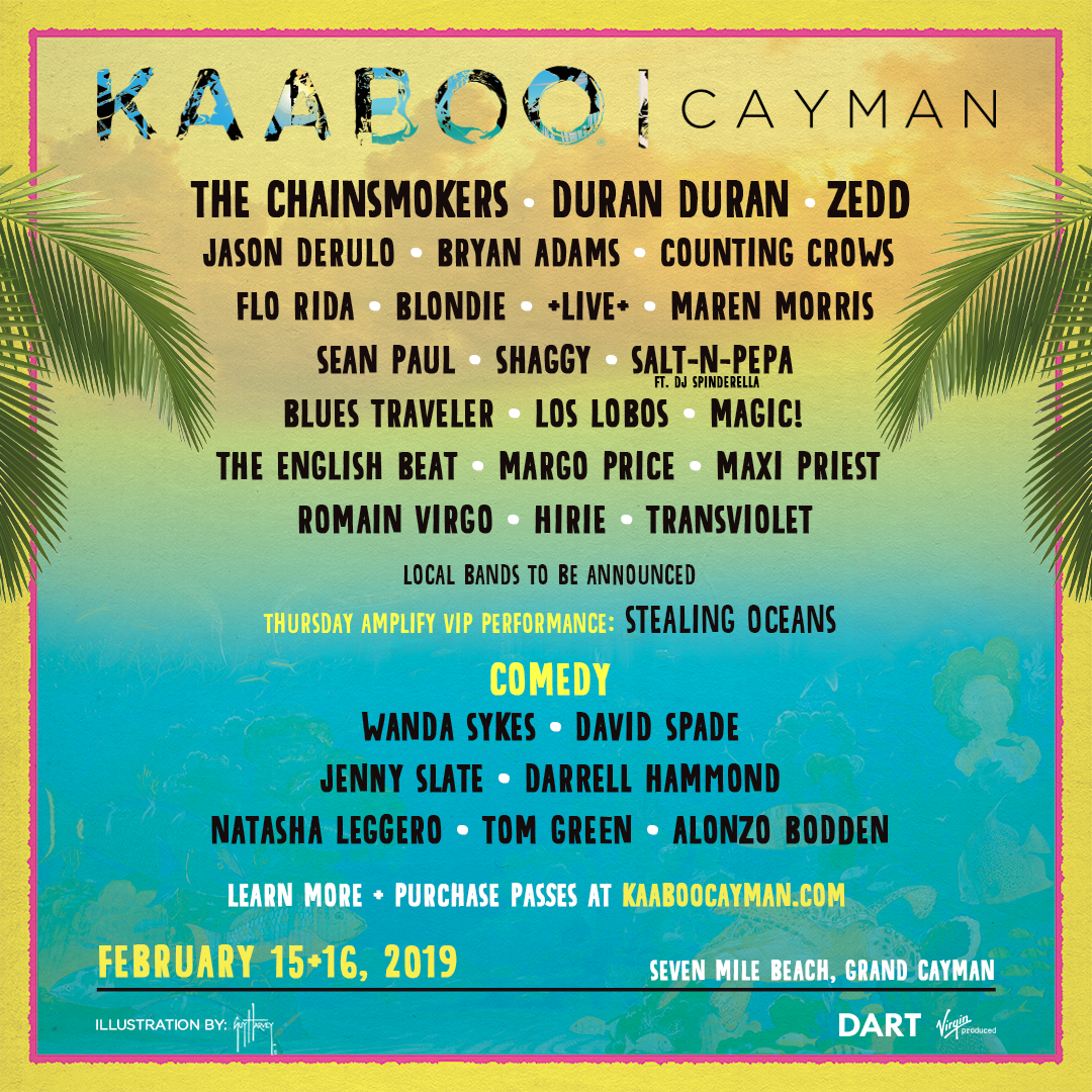 KAABOO Cayman 2019 Lineup Poster