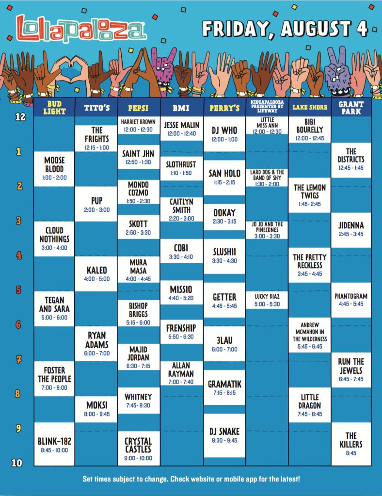 screen shot 2017 05 09 at 10 44 54 am Lollapalooza reveals 2017 set times, and weve resolved all the messy conflicts