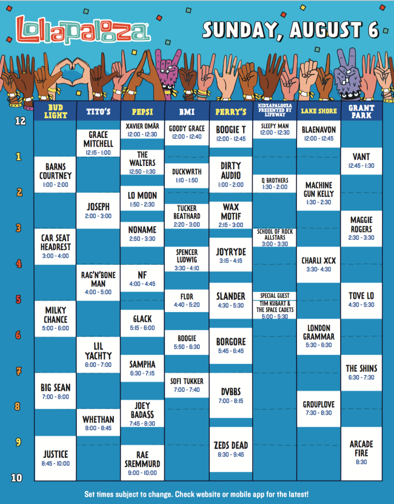 screen shot 2017 05 09 at 10 45 24 am Lollapalooza reveals 2017 set times, and weve resolved all the messy conflicts