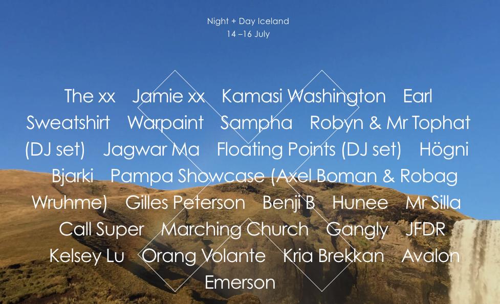 xx night day iceland The xx announce Iceland Night + Day Festival with Sampha, Kamasi Washington, Earl Sweatshirt