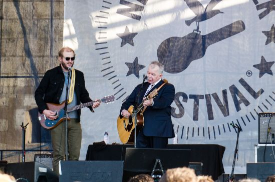 John Prine with Justin Vernon // photo by Ben Kaye