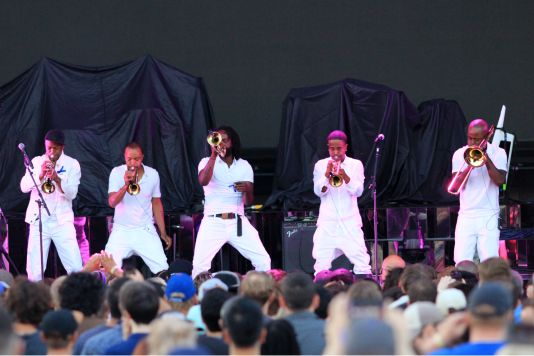 Hypnotic Brass Ensemble // Photo by Heather Kaplan