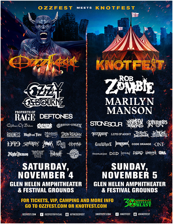 unnamed 10 Ozzfest Meets Knotfests 2017 lineup: Ozzy Osbourne, Deftones, Marilyn Manson among highlights
