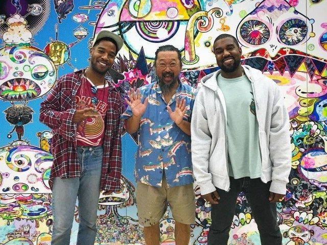 Kanye West, Kid Cudi, and Takashi Murakami