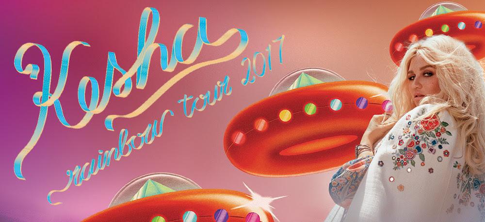 kesha rainbow tour 2017 dates Kesha announces North American Rainbow tour