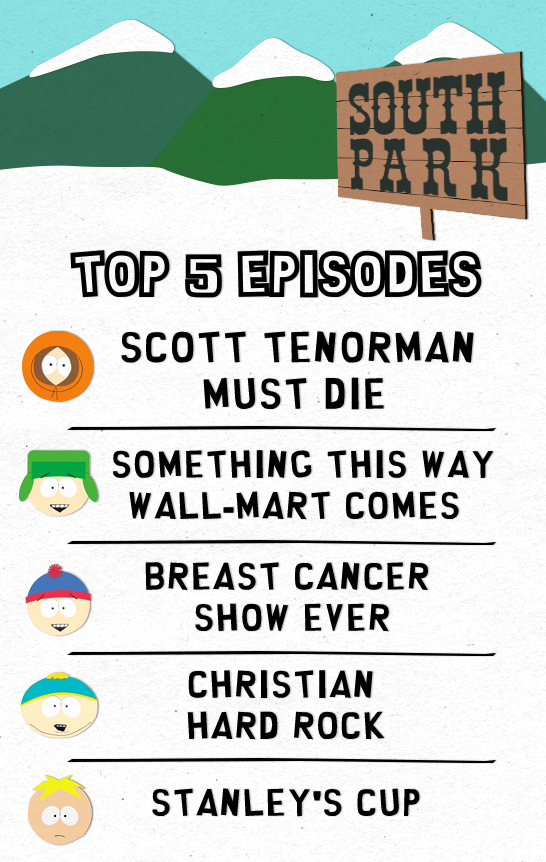 top 5 episodes Recapping South Park: White People Renovating Houses Sledgehammers to the Heart of Hatred