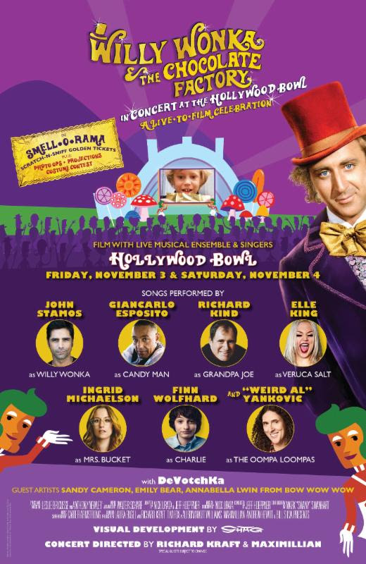 unnamed 84 Weird Al Yankovic, Finn Wolfhard, John Stamos to star in live staging of Willy Wonka & The Chocolate Factory