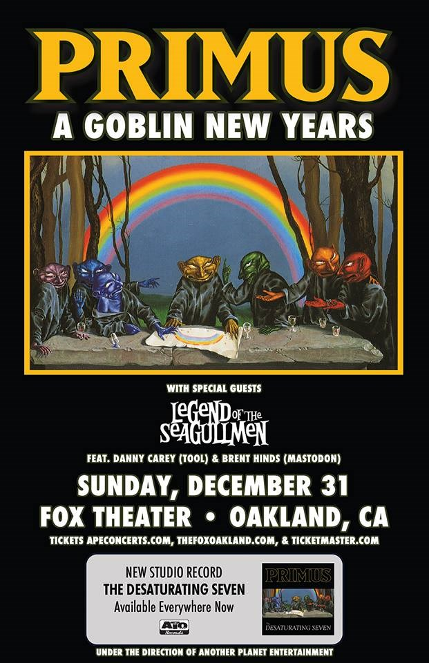 primus nye Tool and Mastodon supergroup The Legend of the Seagullmen set to make their live debut