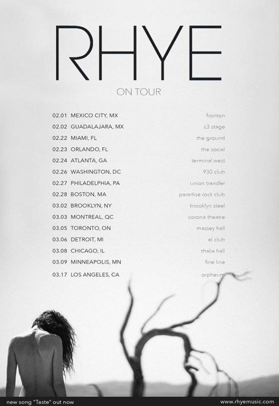 rhye Rhye maps out 2018 North American tour