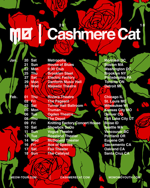 unnamed 50  MØ and Cashmere Cat announce co headlining MEØW tour of North America