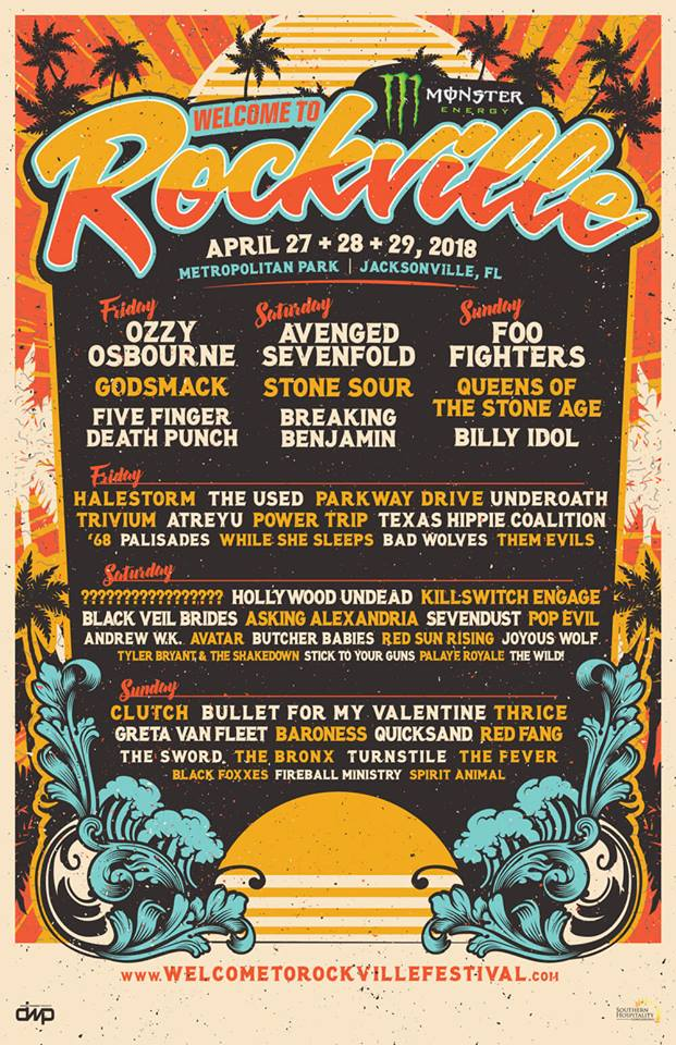 welcome to rockville Welcome to Rockvilles 2018 lineup: Foo Fighters, QOTSA, Ozzy Osbourne to headline