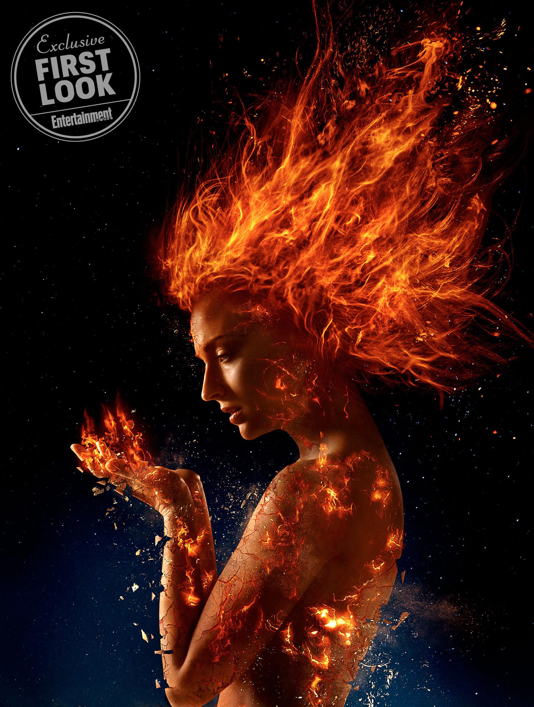 dark phoneix Heres your first look at Sophie Turner in X Men: Dark Phoenix