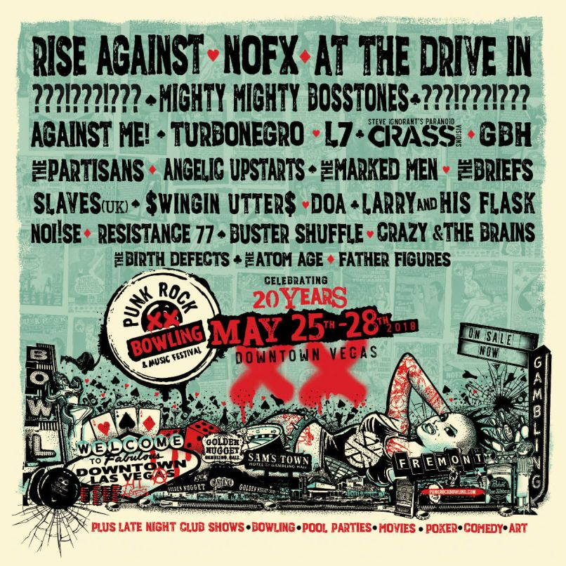 punk rock bowling Punk Rock Bowling reveals 2018 lineup: At the Drive In, Rise Against, L7, NOFX among highlights