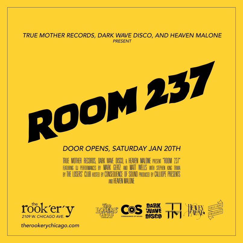 237 flyer Come play with us at Room 237   The Shining Pop Up taking over Chicagos The Rookery