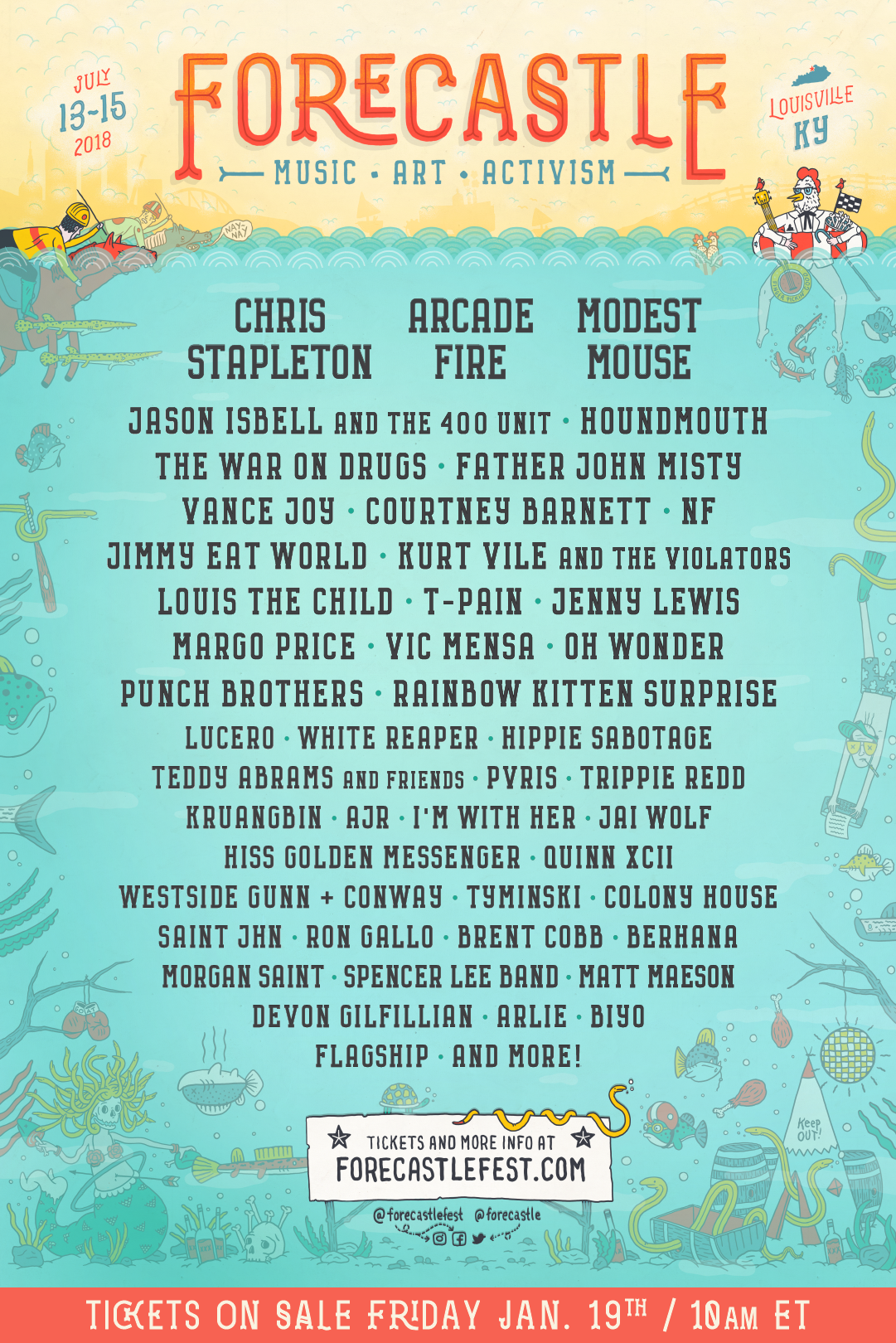 f18 lineup 1080x1620 Win Yacht Club passes to Forecastle Festival 2018