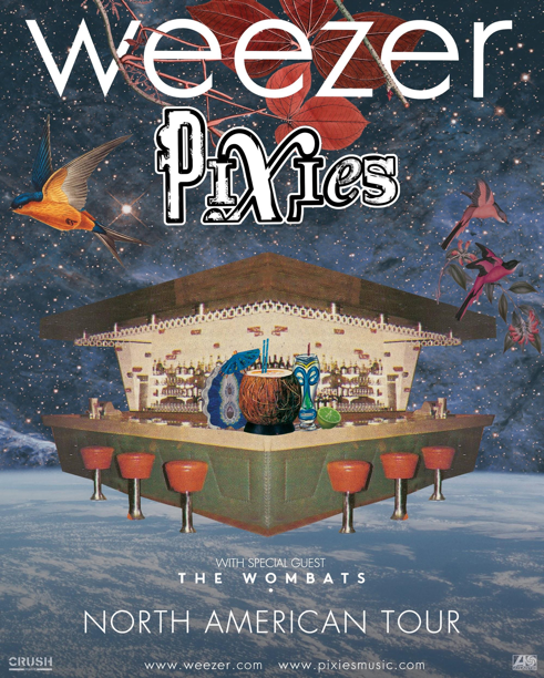 image001 Win tickets to Weezer and Pixies co headlining tour