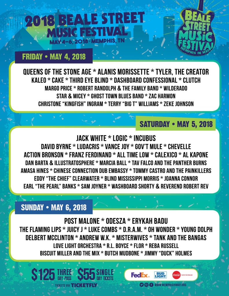 Beale Street Music Festival 2018 Lineup