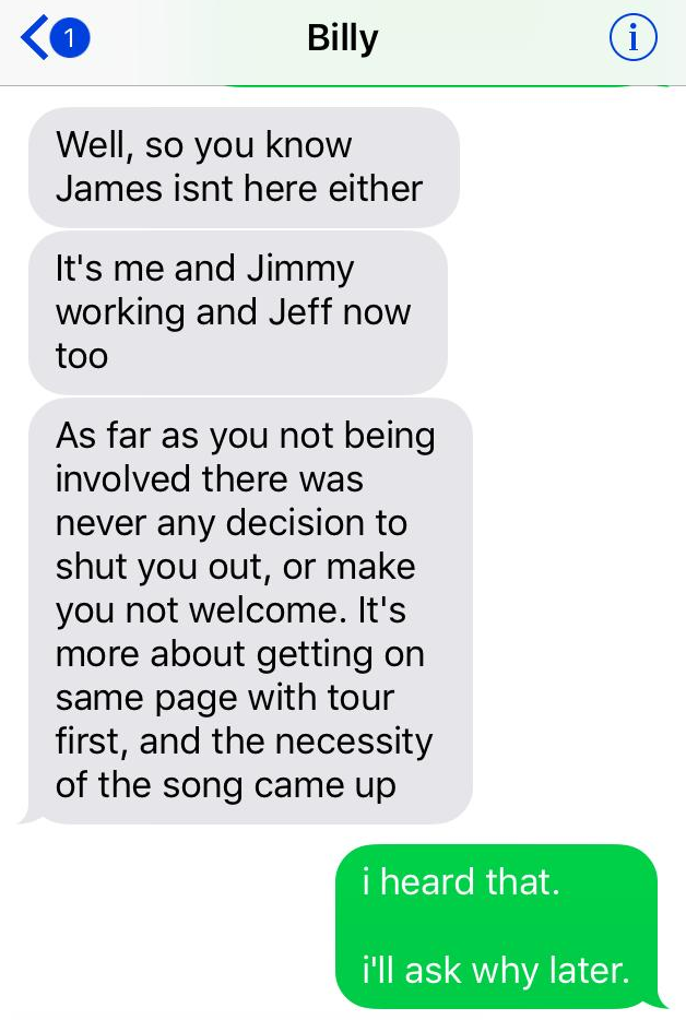 billy darcy 61 Darcy Wretzky shares text messages as proof that Billy Corgan is lying about Smashing Pumpkins reunion offer
