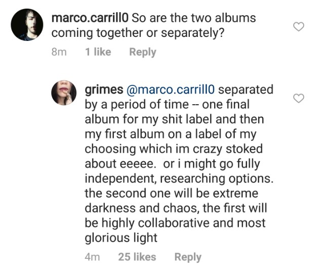 grims1 1519576946 640x542 Grimes says her final album for my shit label will be highly collaborative