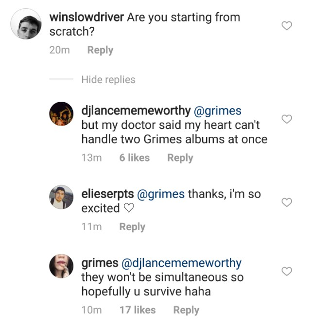 grims2 1519577045 640x676 Grimes says her final album for my shit label will be highly collaborative