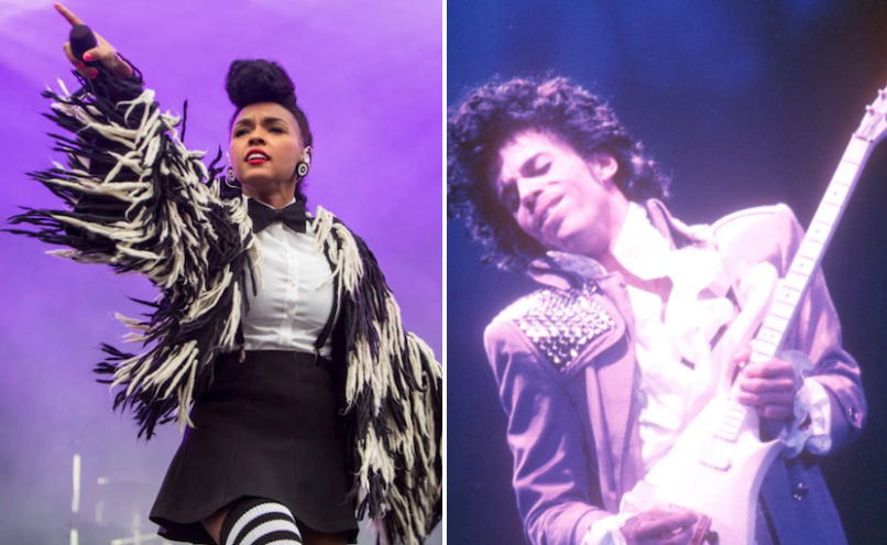 Janelle Monáe, photo by Philip Cosores, and Prince