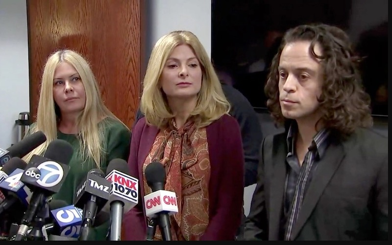 Nicole Eggert, attorney Lisa Bloom, Alexander Polinsky