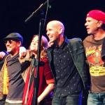 Eddie Vedder, Will Ferrell Chad Smith, and Mike McCready, photo via Instagram/mardihamilton