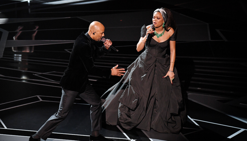 Andra Day and Common at the 2018 Oscars, photo by Rob Latour/Rex/Shutterstock