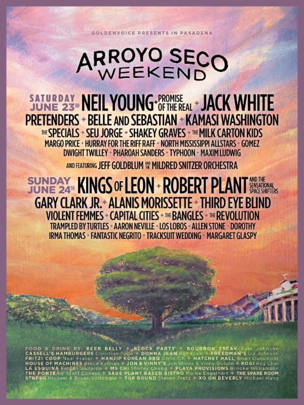 arroyo seco weekend 2018 Jack White, Neil Young, Robert Plant, Jeff Goldblum (!) to play Arroyo Seco Weekend 2018
