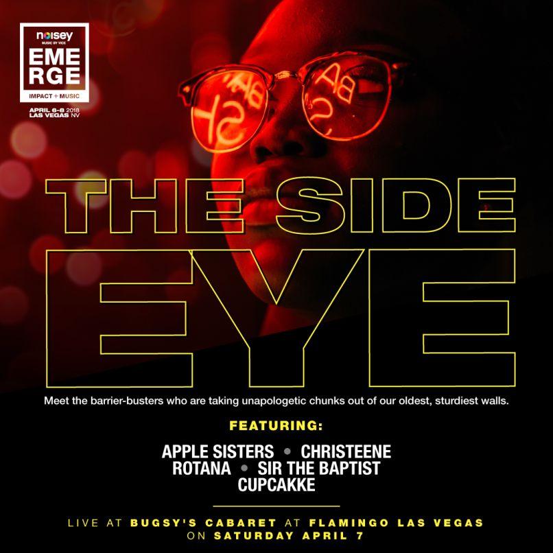eme18 showcase sideeye Ideas and Music Share the Stage at Las Vegas Inaugural Emerge Music + Impact