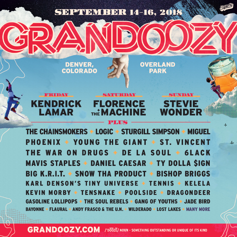 gdz18 admat 1080x10801 Kendrick Lamar, Florence + the Machine, and Stevie Wonder lead Grandoozys inaugural lineup